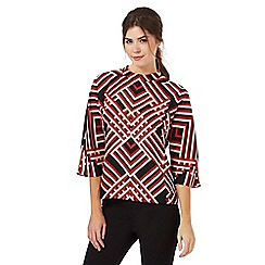 Principles by Ben de Lisi - Multi-coloured lattice print top