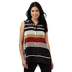 Principles Petite by Ben de Lisi - large striped pleated shirt