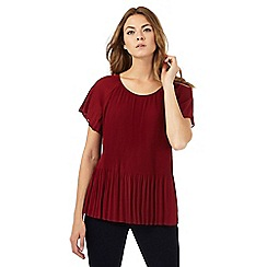 Principles Petite by Ben de Lisi - Dark red pleated top