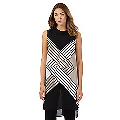 Principles by Ben de Lisi - Black diamond print longline tunic