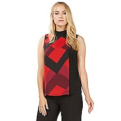 Principles by Ben de Lisi - Red geometric print sleeveless top