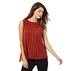 Principles Petite by Ben de Lisi - Dark orange crinkled petite top