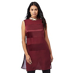 Principles by Ben de Lisi - Dark red sequin embellished collar tunic