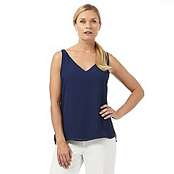 Principles by Ben de Lisi - Navy V neck cami top