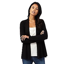 Principles by Ben de Lisi - Black ribbed patterned cardigan