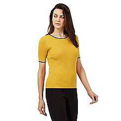 Principles Petite by Ben de Lisi - Yellow ribbed jumper
