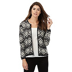 Principles by Ben de Lisi - Black geometric stitch cardigan