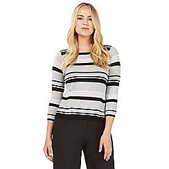 Principles by Ben de Lisi - Grey striped print jumper