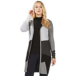 Principles by Ben de Lisi - Grey long colour block cardigan