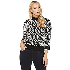 Principles by Ben de Lisi - Black bow print jumper