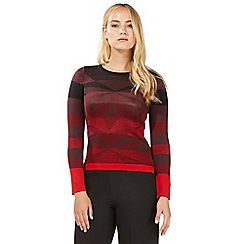 Principles by Ben de Lisi - Berry red lurex jumper