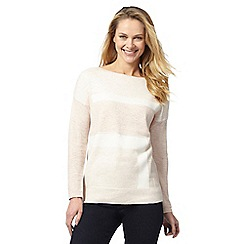 Principles by Ben de Lisi - Pale pink colour block jumper