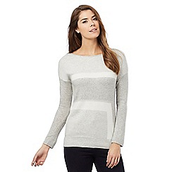 Principles by Ben de Lisi - Grey cashmere colour block jumper