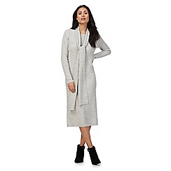 Principles by Ben de Lisi - Grey knitted dress with a scarf