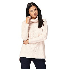 Principles by Ben de Lisi - Light pink ribbed roll neck jumper