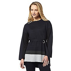 Principles by Ben de Lisi - Navy colour block belted tunic