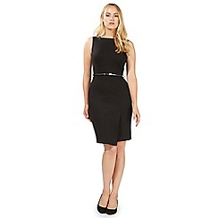 Principles by Ben de Lisi - Black square neck belted pencil dress