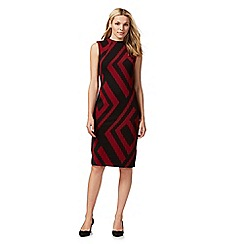 Principles by Ben de Lisi - Black and red geometric print dress