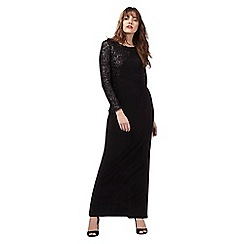 Principles Petite by Ben de Lisi - Black sequinned maxi dress