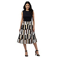 Principles by Ben de Lisi - Multi-coloured striped print prom dress