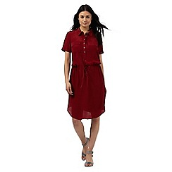 Principles by Ben de Lisi - Dark red utility shirt dress