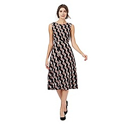 Principles by Ben de Lisi - Black ribbon print midi dress