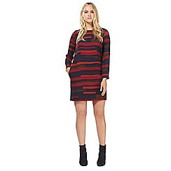 Principles by Ben de Lisi - Multi-coloured block striped print dress