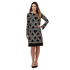 Principles by Ben de Lisi - Black lattice print dress