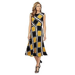 Principles by Ben de Lisi - Black geometric print midi dress