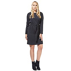 Principles by Ben de Lisi - Navy pinstripe belted dress