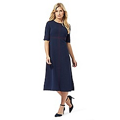 Principles by Ben de Lisi - Navy triple stitch midi dress