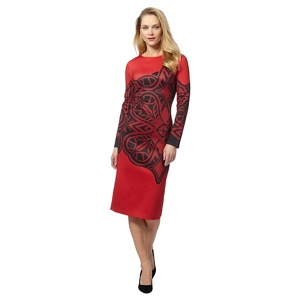 Principles by Ben de Lisi Red printed dress