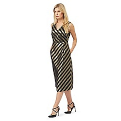 Principles by Ben de Lisi - Black striped midi dress