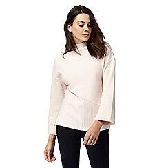 Principles by Ben de Lisi - Light pink flute sleeve jumper