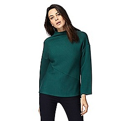 Principles by Ben de Lisi - Dark green flute sleeve jumper