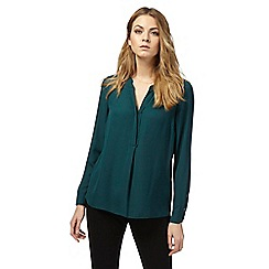 Principles by Ben de Lisi - Green long sleeve blouse
