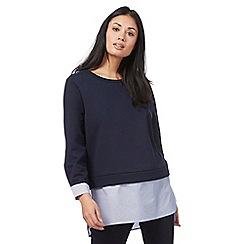 Principles by Ben de Lisi - Navy 2 in 1 mock sweater