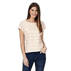 Principles by Ben de Lisi - Light pink textured striped top