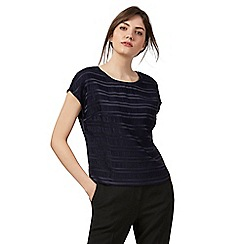 Principles by Ben de Lisi - Navy textured striped top