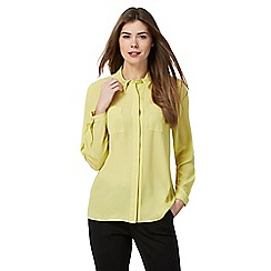 Principles Petite by Ben de Lisi - Yellow printed shirt