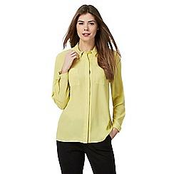 Principles Petite by Ben de Lisi - Yellow printed shirt