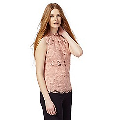 Principles by Ben de Lisi - Pale peach lace top