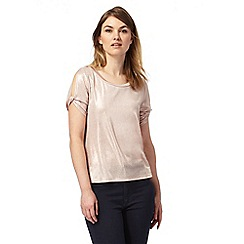 Principles by Ben de Lisi - Pale peach metallic top