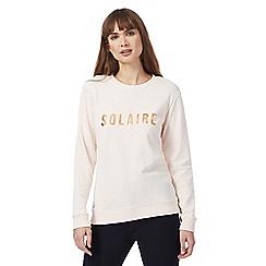Principles by Ben de Lisi - Pink logo print sweater