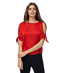 Principles by Ben de Lisi - Red cold shoulder top