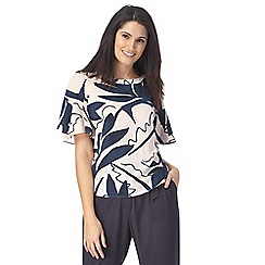 Principles by Ben de Lisi - Pink and navy printed top