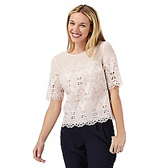 Principles by Ben de Lisi - Light pink lace top
