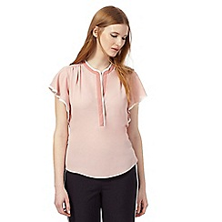 Principles by Ben de Lisi - Light pink ruffle top