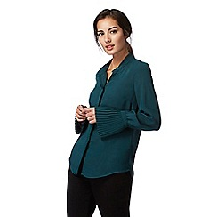 Principles by Ben de Lisi - Dark green pleated blouse