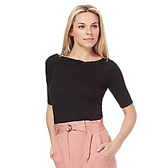 Principles by Ben de Lisi - Black Bardot jersey top